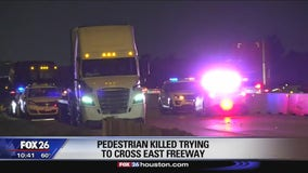 Pedestrian killed trying to cross East Freeway