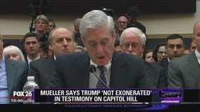 Mueller says Trump 'not exonerated' in testimony on Capitol Hill