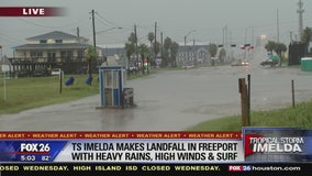TS Imelda makes landfall in Freeport with heavy rain, high winds, and surf