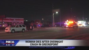 Woman dies after overnight crash in Greenspoint