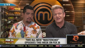 Masterchef Gordon Ramsay and  Aaron Sanchez