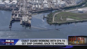 Coast Guard working with EPA to get ship channel back to normal