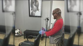 Houston inventor creates 'The Deflector' shield for salon safety