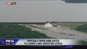 Officials open dam gates to lower Lake Houston levels