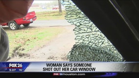 Police searching for suspect who shot moving car