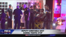 Deputy constable shot during traffic stop