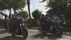 American Legion motorcycle riders escort veterans to Kemah