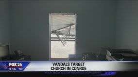 Vandals target Whispering Pines Church in Conroe
