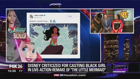 """Disney criticized for casting black girl in live-action remake of """"The Little Mermaid"""""""