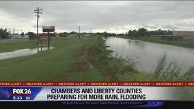 Chambers and Liberty counties preparing for more rain, flooding
