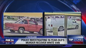 Police investigating 16-year-old's murder recover white van