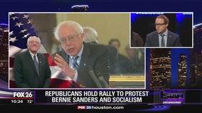 Group of Republicans protest Bernie Sanders during Houston visit