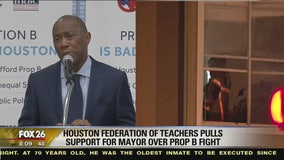 Houston Federation of Teachers pulls support for Mayor over Prop B fight