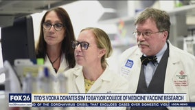 Titos Vodka donates $1million to Baylor College of Medicine for vaccine research