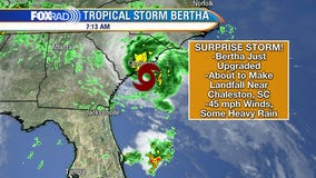 Tropical Storm Bertha forms off the coast of South Carolina