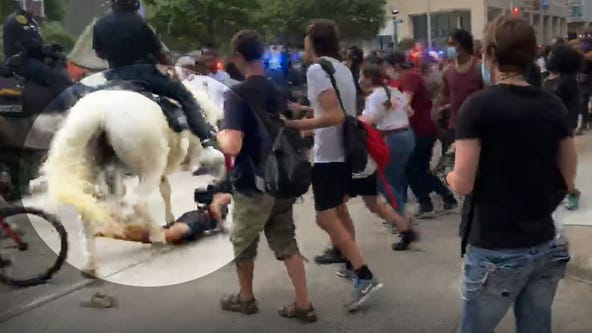 Houston mayor apologized to woman knocked down by police horse