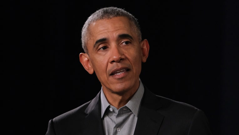 FILE: Former U.S. President Barack Obama speaks to young leaders from across Europe in a Town Hall-styled session on April 06, 2019 in Berlin, Germany.