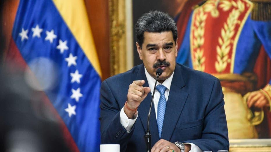 Nicolas Maduro Press Call At Miraflores