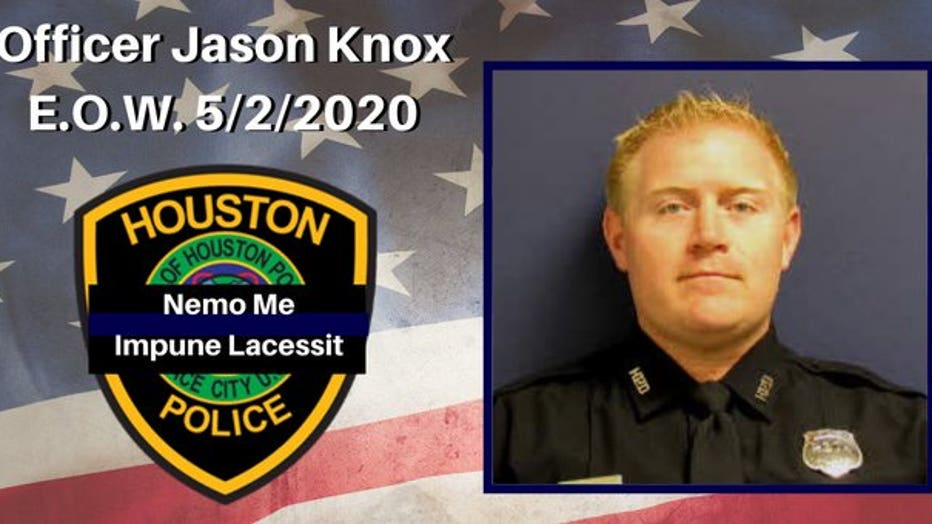 The officer who died in a Houston Police Department helicopter crash has been identified as Tactical Flight Officer Jason Knox.