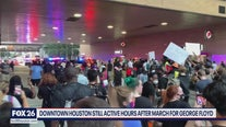 Protesters still in downtown hours after march for George Floyd