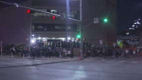 Driver in pickup truck goes around barricades into crowd of downtown Austin protesters