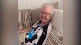 93-year-old COVID-19 survivor watches her favorite soccer team win once again