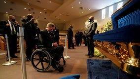 Texas Gov. Abbott pays respects at service for George Floyd