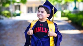 Boy, 13, graduates California city college with 4 associates degrees, youngest in school's history