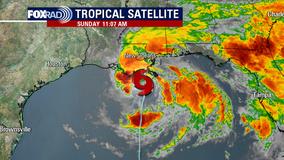 High winds, rain as tropical storm makes Louisiana landfall