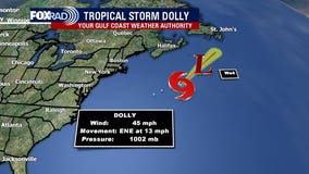 Tropical Storm Dolly forms over the north Atlantic