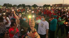 Hundreds attend memorial candlelight vigil for George Floyd