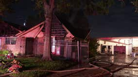2 firefighters injured while battling house fire in southeast Houston