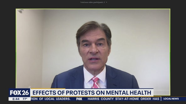 Dr. Oz discusses the effects of protests on mental health