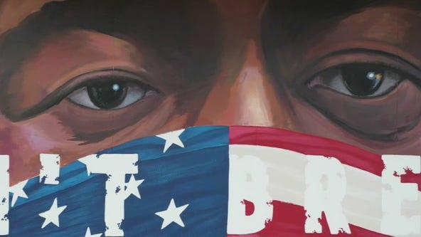 Mural at Houston's Breakfast Klub pays tribute to George Floyd