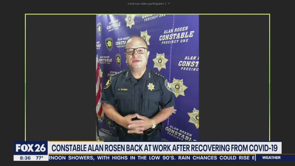 Constable Alan Rosen back at work after recovering from COVID-19
