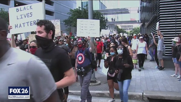 Tense moments between officers and protesters