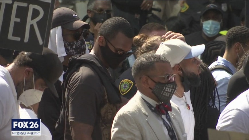 Houston Texans players attend historic march for George Floyd