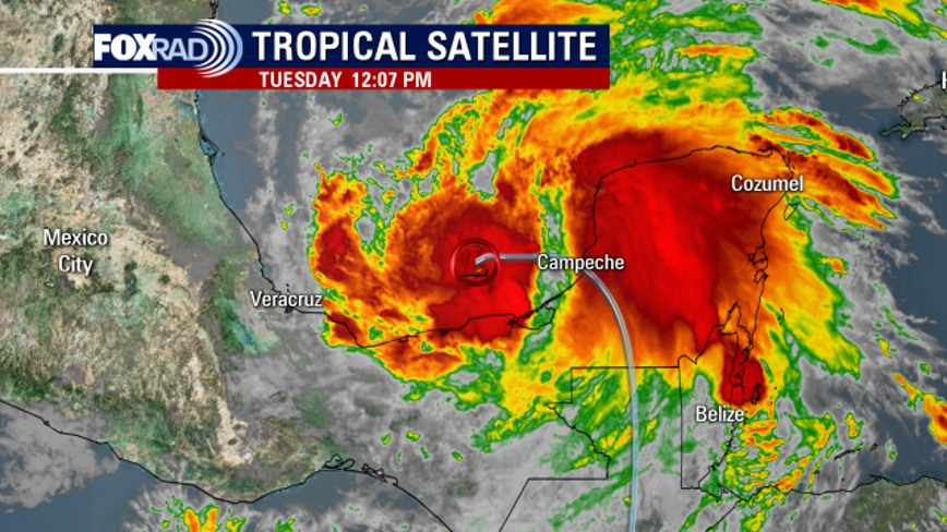 Tropical Storm Cristobal forms in the southern Gulf of Mexico