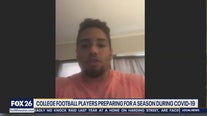 College football players preparing for season during COVID-19