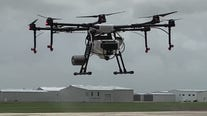Drones helping to keep large spaces COVID-19 free
