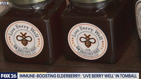 Immune boosting elderberry from family business in Tomball