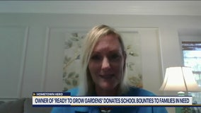 Owner of 'Ready to Grow Gardens' donates school bounties to families in need