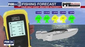 Saturday fishing forecast