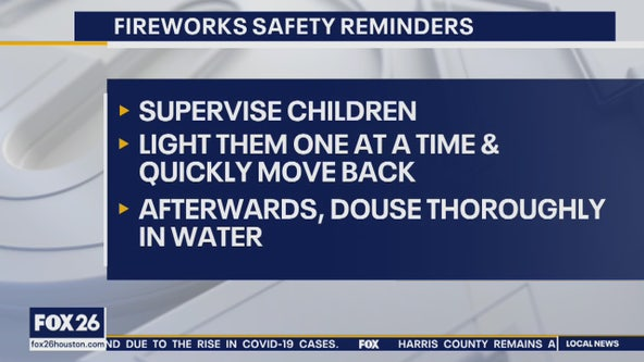 Fireworks safety reminders for Fourth of July