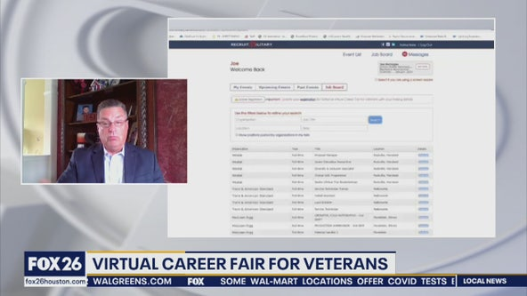 Virtual job fair for veterans