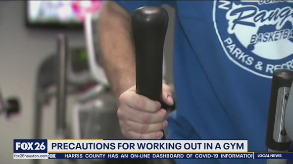 Precautions for working out in a gym