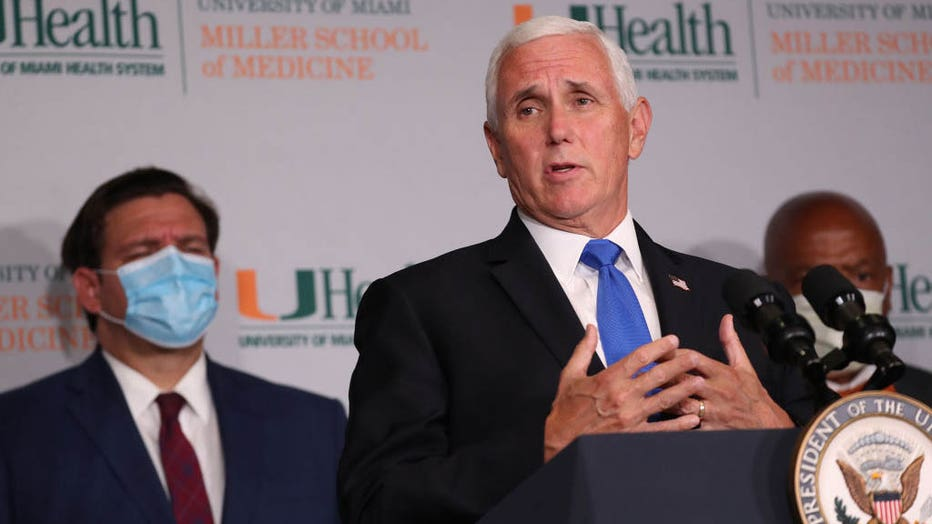 VP Pence Visits U. Of Miami For Start Of Phase III COVID-19 Vaccine Trials
