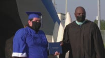 Drive-thru graduation held for Spring ISD students