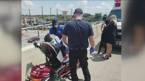 Motorcyclist struck in suspected hit and run crash after attending deputy's funeral