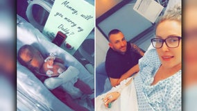 Premature baby 'helps' dad propose to mom from hospital incubator